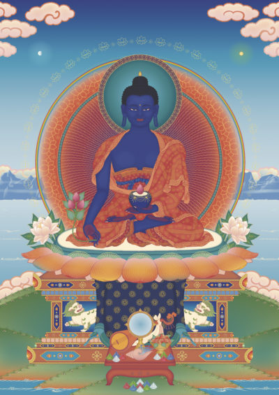 Medicine Buddha 2 - Tharpa Artwork